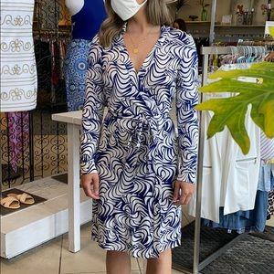 Diane Von Furstenberg wrap dress belted